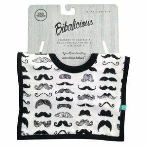 Bibalicious Organic Cotton Bib Baby Moustache